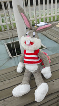 1.3m plush toy doll Bugs Bunny baby doll sweater paragraph birthday Valentine's Day gift
