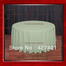 "Hot Sale 120""R Celedon 210GSM Polyester plain Table Cloth For Wedding Events & Party Decoration(Supplier)(China)"