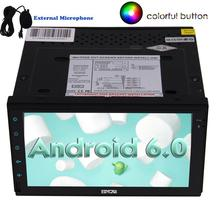Android 6.0 Quad Core Car Audio Wifi Double two 2 Din GPS  video Navigation Player 2din Stereo Capacitive Screen FM/AM RDS Radio