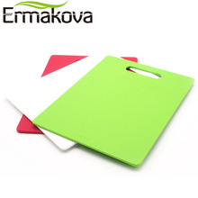 ERMAKOVA 4.5 mm Thickness PP Chopping Block Mat Colorful Kitchen Cutting Board Nonslip Antimicrobial with Food Icons(China)