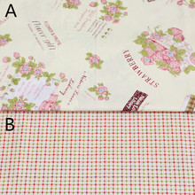 160cm*50cm chic floral basket pink Cotton fabric cotton clothes bedding quilt table cloth curtain sewing fabric tissue tecido(China)