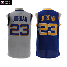 MJ #23 Laney High School Basketball Jerseys Michael 23 Limited Edition White Blue Throwback Retro Breathable Stitched For Mens(China)