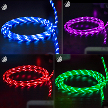 Robotsky 3A LED Light USB Type C usb-c Fast Charging Data Cable Charger USB Cable XiaoMi Huawei Letv Smart phone