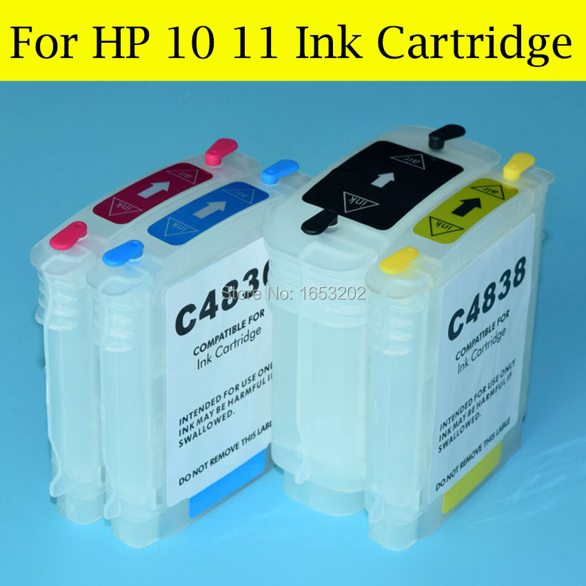 4 Pieces/Lot Empty Ink Cartridge For HP 10 11 With ARC Chip For HP Bussiness Inkjet 1000 1100d 1200 2000C/CN 2230 2300 Printer<br><br>Aliexpress