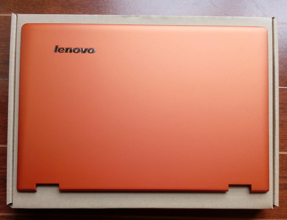 New/Orig Lenovo Ideapad Yoga 13 Lcd rear back cover orange 11S30500200 Logo
