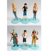 6pcs/lot New Free Shipping Anime One Piece Mini Action Figures The Straw Hats Luffy Zoro Usopp Nami Figure Toys