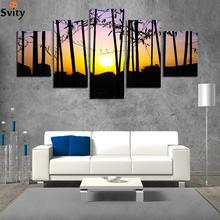 FASHION NEW Silhouette canvas painting rectangle HD large image artwork wall picture home decoration for living room