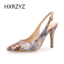 HXRZYZ women fashion fish mouth open toe wedding shoes silk surface bow ladies high heel sandals bridal shoes white red big size