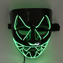 9 Colors New El Wire Light Up LED V Mask for Vendetta Anonymous Guy Fawkes Costume Cosplay Halloween Mask
