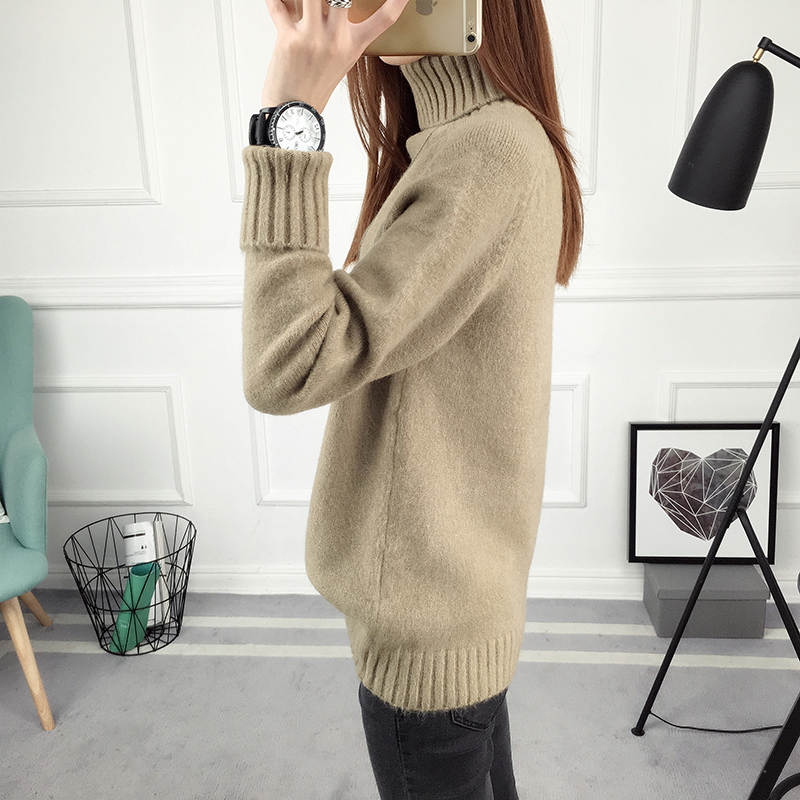 Winter Turtleneck Sweater, Women's 2017 New Design Thick Pullover 26