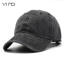 YIFEI  Fashion Women Washed Cowboy Baseball Cap Men Casquette Snapback Caps For Men Brand Bone Vintage Bad Hair Day Adjustable