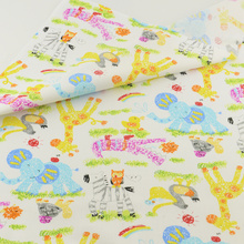 Elephant Cotton Fabric Fabrics Tissue Home Textile Patchwork Quilting Teramila Sewing Cloth Craft Tecido Tela(China)