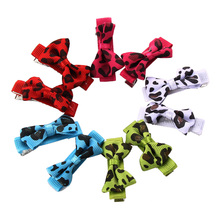 10pcs Dog Supplies  Lovely Pets Hair Bow Mixed Color Headdress Puppy Cat Teddy Hairpin For Dog's