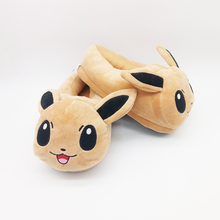 Eevee plush Shoes soft unisex Slippers Elf Ball Glacia charmander squirtle aliens naruto home house Winter cotton doll toy(China)
