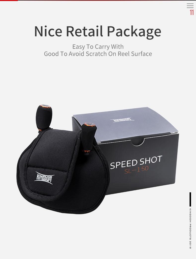 Kingdom SPEED SHOT MICRO 2019 New Double spool 6.51 High Speed Baitcasting Reel Ultralight 12+1 Ball Bearings Fishing Reel (12)