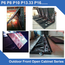 TEEHO front open P8 Outdoor led display panel waterproof Cabinet SMD3535 512mm*512mm 64*64 dots screen led video wall(China)
