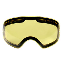 Double brightening lens for ski goggles Night of Model Number GOG-201 For weak Light tint Weather Cloudy Drop Shipping