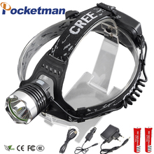 LED Headlamp 3800LM Front Lamp Headlight CREE T6 LED Head Lamp Torch LED Flashlights Biking Fishing Torch 18650 Battery Charger(China)