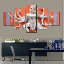 Multiple Hands Buddha Indian Lord 5 Pieces Combiantions Canvas Wall Art Unframed Picture Living Room Decor Modern Artwork