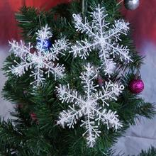30pcs Christmas Snowflakes Christmas Tree Hanging Pendant Artificial Snow Party Festival Christmas Decoration for Home New Year(China)