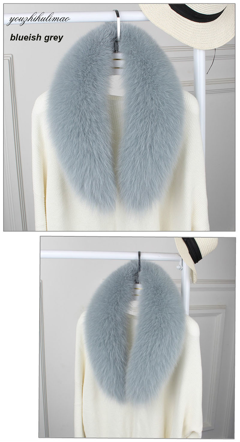 fox fur collar steel grey