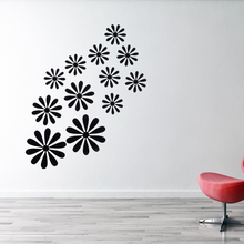 12PCS/Set 3D Art High Quality New Arrival Beautiful DIY Modern Home Room Decor Removable Decal Room Flower Wall Sticker(China)