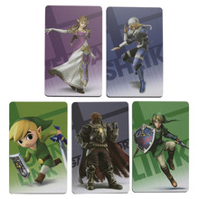18pcs Zelda Amiibo Cards NFC Amiibo Tag Card Breath of the Wild Full Set 20 Heart Wolf Link Fierce Deity Kids Toys