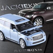 High quality high simulation 1:32 alloy pull back car,Infiniti QX56 SUV off-road vehicles,metal model cars toy,free shipping