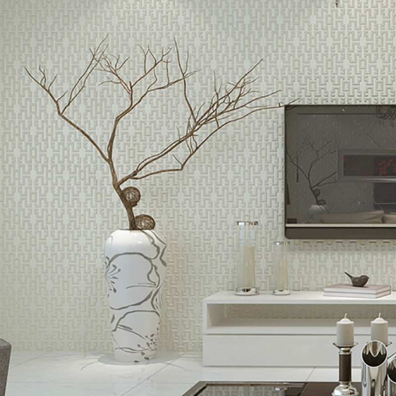 Modern Living Room Wallpaper Non-woven Three-dimensional Lattice 3D Roll Paper Wallpaper For Bedroom Wall<br>