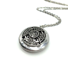 Exclusive Design Antique Silver Celtics Knots Cross Pendant Celtics Locket Aromatherapy Essential Oil Diffuser Locket Necklace(China)