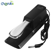 Cherub Electronic Organ Cherub Metal Sustain Pedal WTB-005 For Electronic Keyboard Musical Instruments Black Ship From Russia(China)