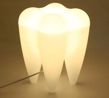 Creative Mr P Tooth Lamp White Desk Table Lamp Study Led Tooth Lamp for Christmas Gift Bedroom Decoration Tooth Lamp Lightng(China)