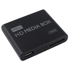 EU  Plug Mini Media Player HDMI Media Box TV Video Multimedia Player Full HD 1080p Support MPEG/MKV/H.264 HDMI AV USB Black