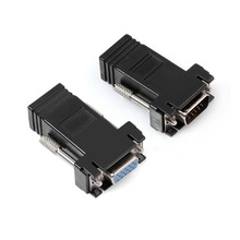 High Performance 1 Pair VGA Extender Male/Female To RJ45 Female Network Cable Adapter Extra Switch Converter