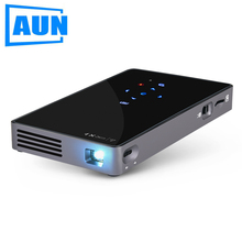 AUN Android 7.1 Projector D5S, Built-in WIFI, Bluetooth, 4500mAH Battery. HDMI, USB, SD Card, (Optional D5 Portable Projector)(China)