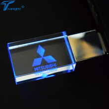 Trangee Crystal USB Flash Drives 4GB 8GB 16GB 32GB Car USB 2.0 Pen Drive Car USB Stick Pendrive with Blue/Red/Green LED Light