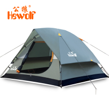 Hewolf Brand Outdoor equipment camping equipment 3-4 people double anti-rain tents camping tents