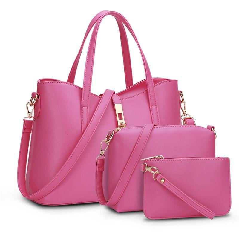 European and American Brand Designer Composite Bag Women Bags High Quality PU Leather Female Shoulder Handbags 3pcs/set TY008<br><br>Aliexpress