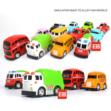 Hot 1:60 scale wheels diecast car mini microbus T1 Pickup Beatle School bus Fire engine Garbage truck metal model pull back toys(China)