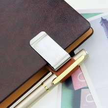 1Pcs/set Creative Custom notebook clip, genuine leather notebook notebook, metal pen holder, paper folder(China)