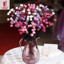 Home Decoration accessories Artificial PE mini style vase flores Roses Wedding centerpiece Decoration ramos handmade flowers