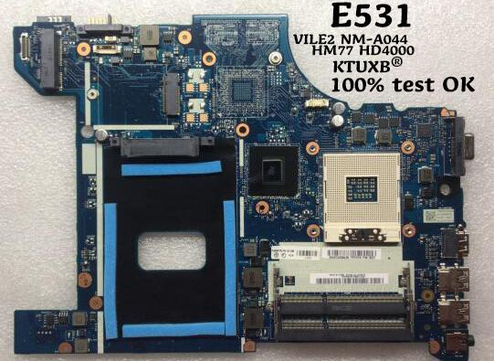 KTUXBVILE2 NM-A044 motherboard for Lenovo E531 notebook motherboard HM77 HD4000 DDR3 04Y1300 04Y1299 04Y1298 100% test work