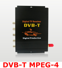 High speed single antenna DVB-T MPEG-4 Digital car TV Tuner receiver box Compatible with DVBT MPEG2 and MPEG4 AVC/H.264 Hot Sale