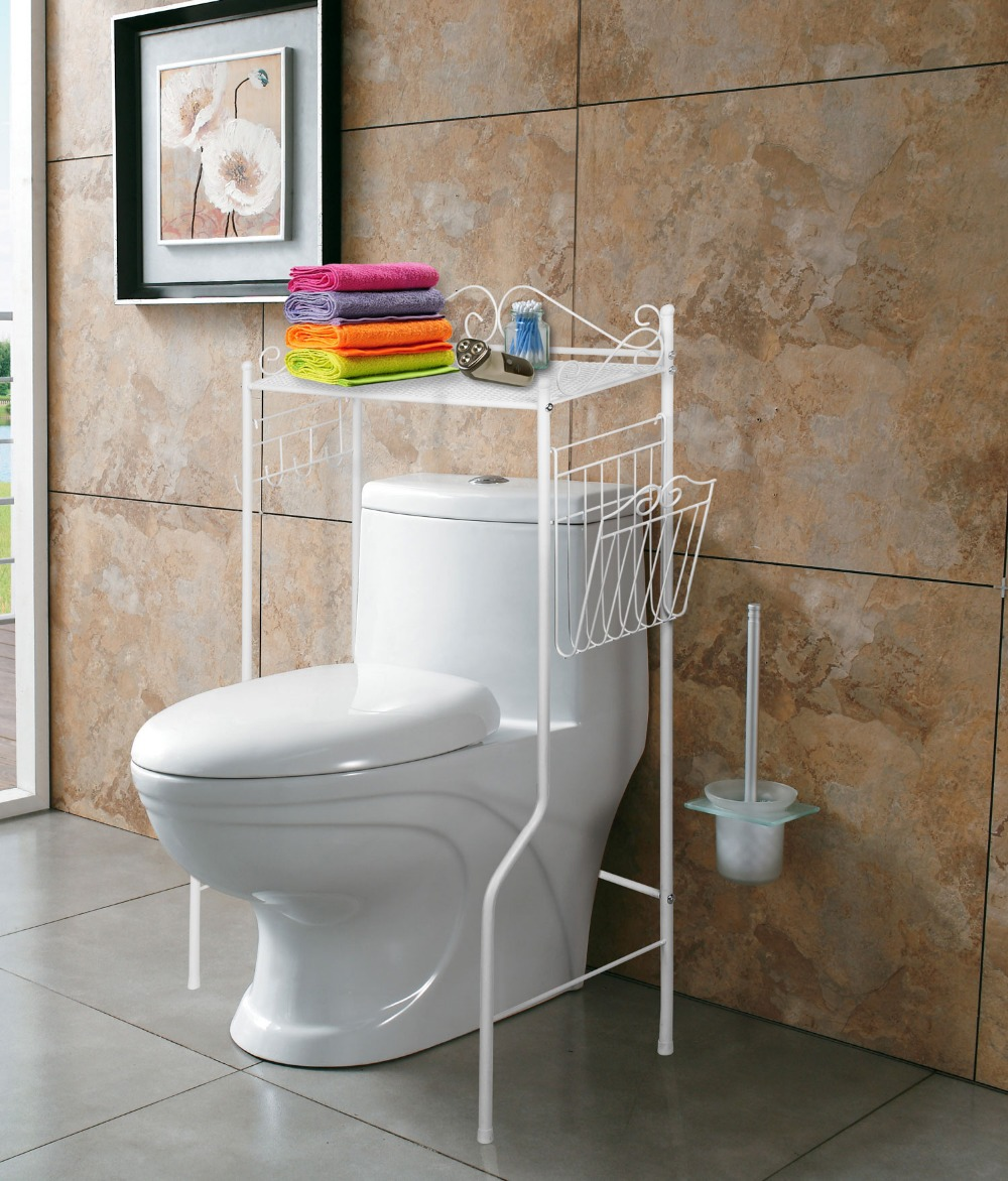 Over toilet bathroom storage