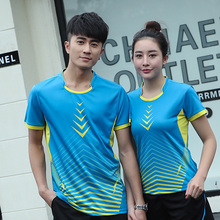 Free Custom Quick-dry Badminton t shirt Women/ Men's , sports shirts , Table Tennis t shirt , Tennis sp orts tshirt AY003