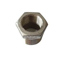 "2 PCS 1/4"" Male NPT * 1/8"" Female NPT Reducing Bushing Pipe Fitting Stainless Steel 304 SS304NPT-RB-1/4M-1/8F(China)"