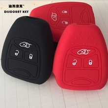 3 Button Silicone Skin Cover for CHRYSLER 300 PT Cruiser Sebring Dodge Caliber Nitro Jeep Compass Liberty Remote Key Case Fob(China)