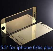 Luxury Front+Back Mirror Tempered Glass Protector for iPhone 6 Plus Screen Protector Color Plate for iPhone 6/6s plus 5.5""