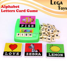 Alphabet Letters Figure Spelling Games Cards English Word Puzzle Children's Educational Toys Literacy Fun Early learning toys(China)