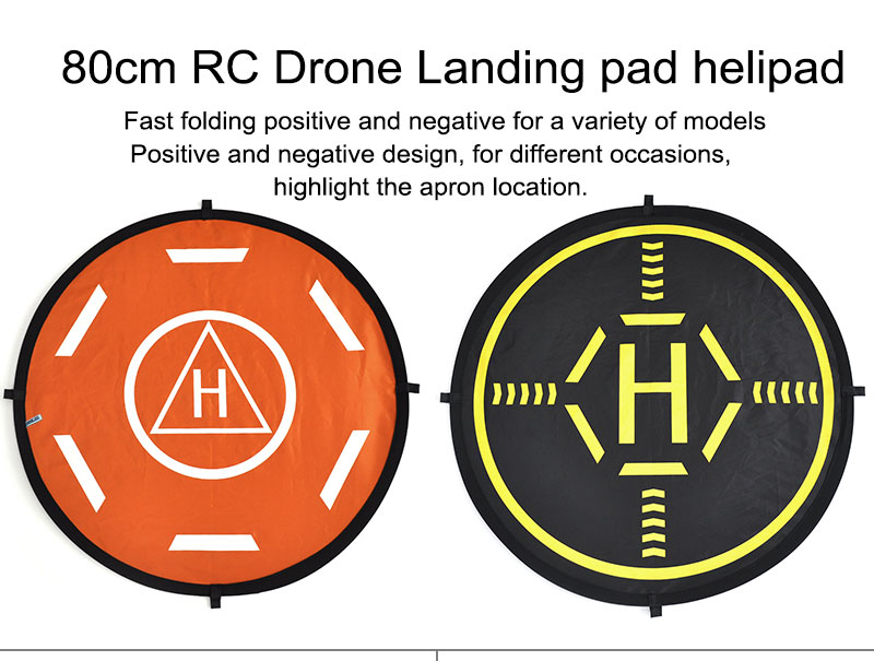 DJI Spark Mavic Pro 800mm Luminous Tarmac Parking Aporn 80 CM Foldable Landing Pad Folding Hardstand for DJI Phantom 3 4 Drone